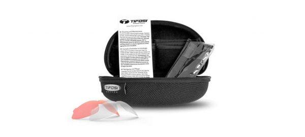 Σκληρή Θήκη για Αθλητικά Γυαλιά Ηλίου Tifosi Brixen Gloss Black με Τρεις Διαφορετικούς Φακούς