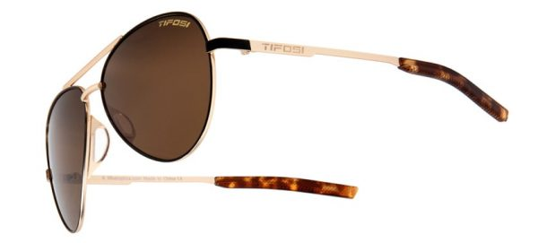 Αθλητικά Γυαλιά Ηλίου Tifosi Shwae Midnight Gold Aviators με Φακούς Brown