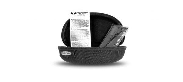 Σκληρή Θήκη για Αθλητικά Γυαλιά για Ποδηλασία & Τρέξιμο Tifosi Synapse Gloss Black με Φωτοχρωμικούς Φακούς