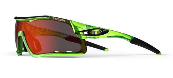 Αθλητικά Γυαλιά Ηλίου Tifosi Davos Crystal Neon Green Clarion με Τρεις Διαφορετικούς Φακούς
