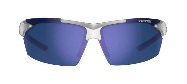 Αθλητικά Γυαλιά Ηλίου Tifosi Jet Metallic Silver με Φακούς Smoke Blue