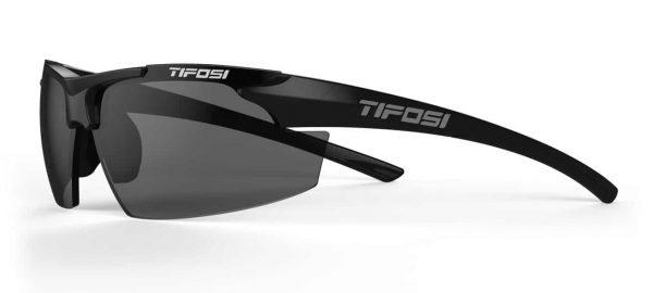 Αθλητικά Γυαλιά για Τρέξιμο & Ποδηλασία Tifosi Track Gloss Black με Φακούς Smoke