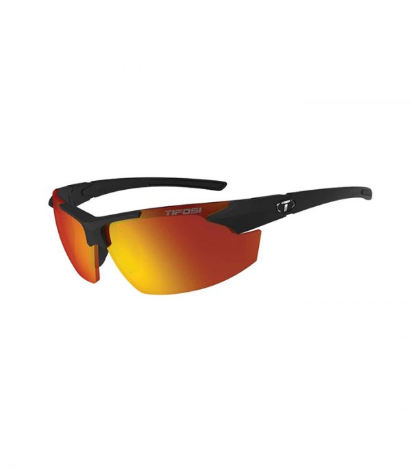 Αθλητικά Γυαλιά Ηλίου Tifosi Jet FC Matte Black με Φακούς Smoke Red
