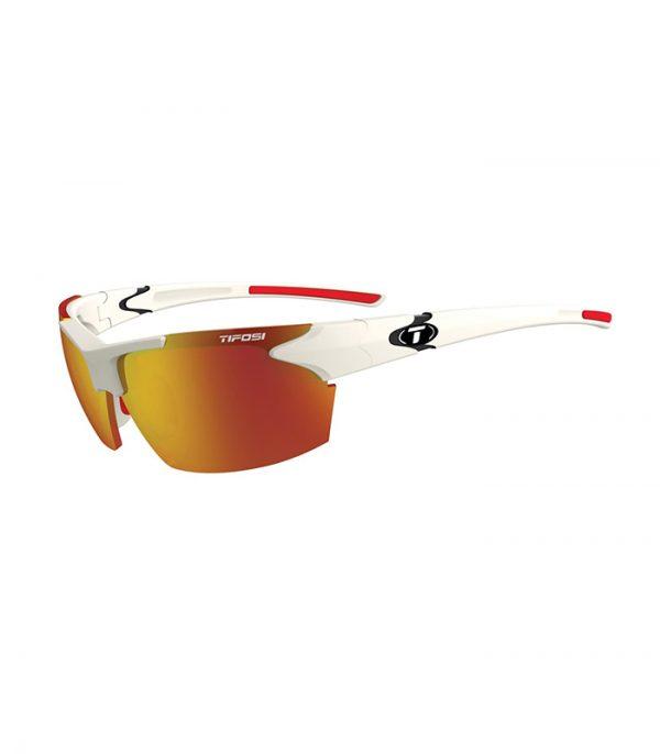 Αθλητικά Γυαλιά Ηλίου Tifosi Jet Matte White με Φακούς Smoke Red