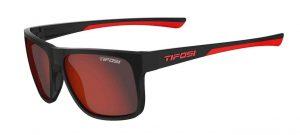 Αθλητικά Γυαλιά Ηλίου Tifosi Swick Satin Black Crimson με Φακούς Smoke Red