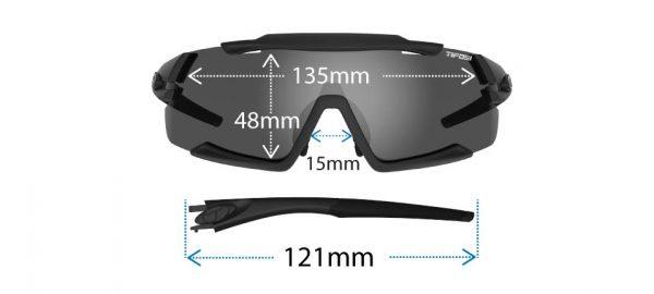 Αθλητικά Γυαλιά Ηλίου Ποδηλασίας & Τρεξίματος Tifosi Aethon Matte Black με Τρεις Διαφορετικούς Φακούς